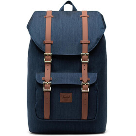 Herschel Little America Mid-Volume Rugzak 17L, indigo denim crosshatch